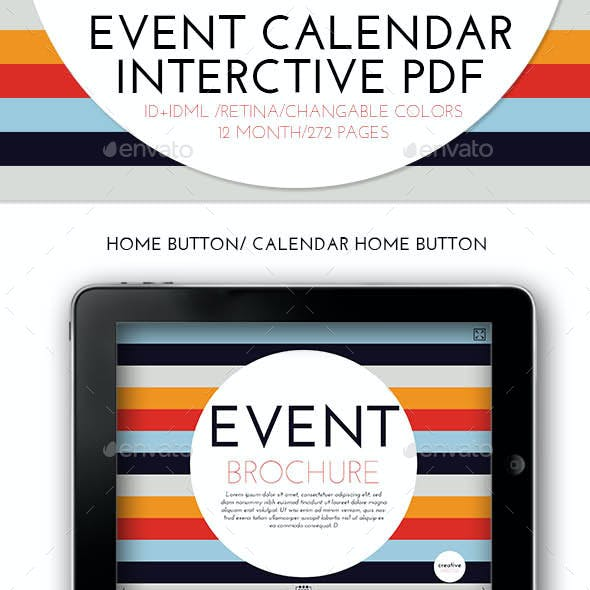 Interctive PDF Event Calendar