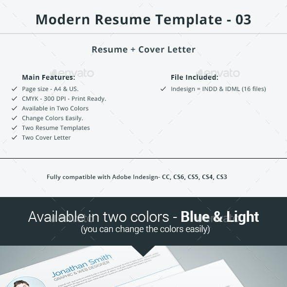 Modern Resume Template - 03