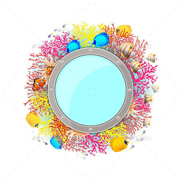 Background with Coral and Fish
