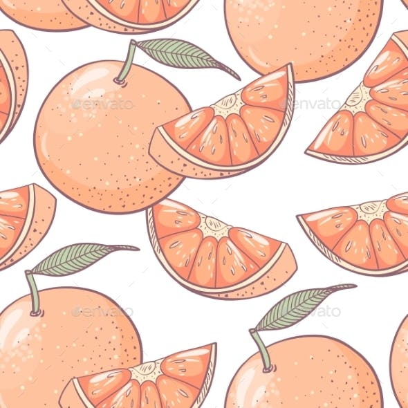 Grapefruit Seamless Pattern