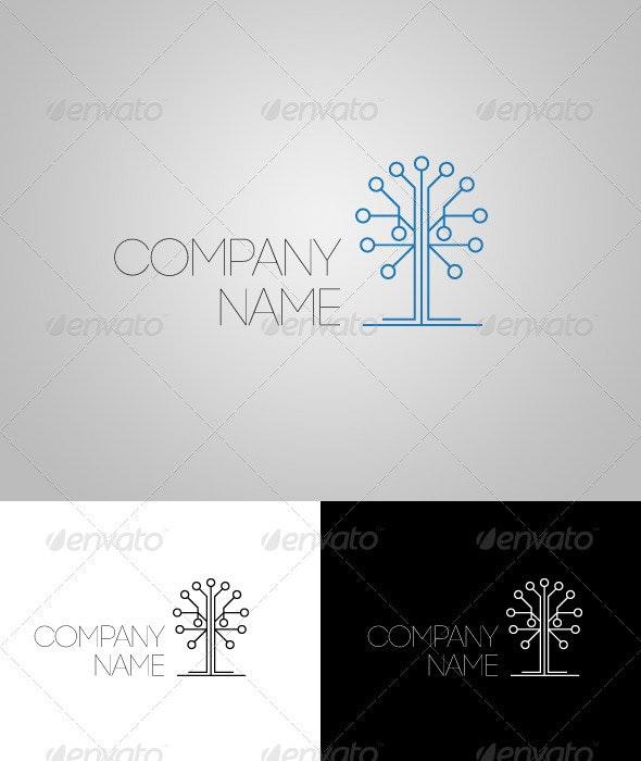 High Tech Logo - Vector Abstract