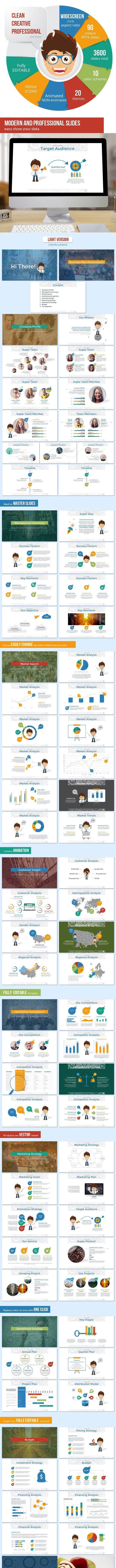 Business Plan with Mr. John Presentation Template - Pitch Deck PowerPoint Templates