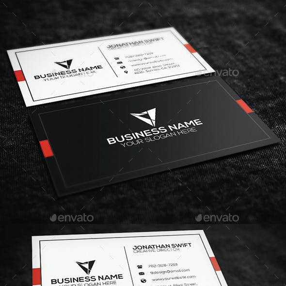 2 in 1 Corporate Business Card Bundle No.04