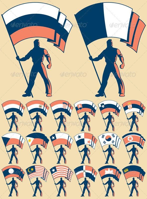 Flag Bearer 3 - Decorative Symbols Decorative