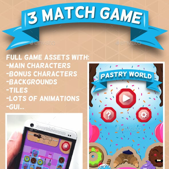 3 Match Pastry World