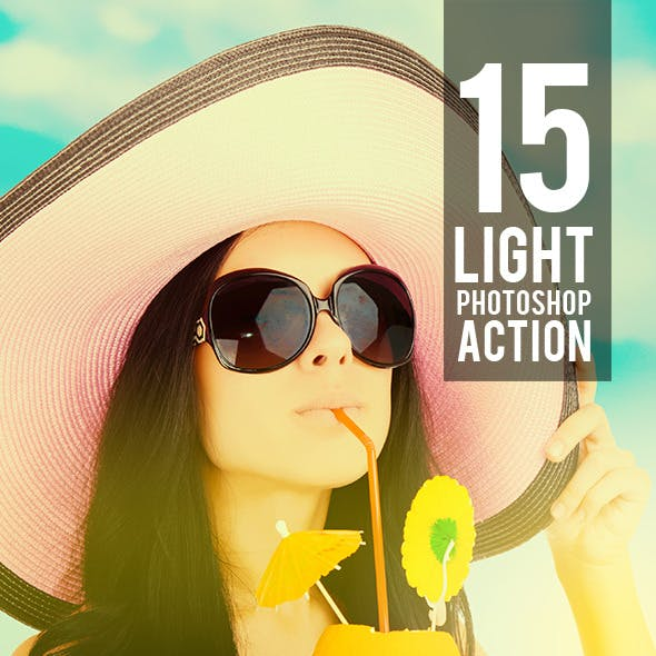 15 Light Photoshop Actions