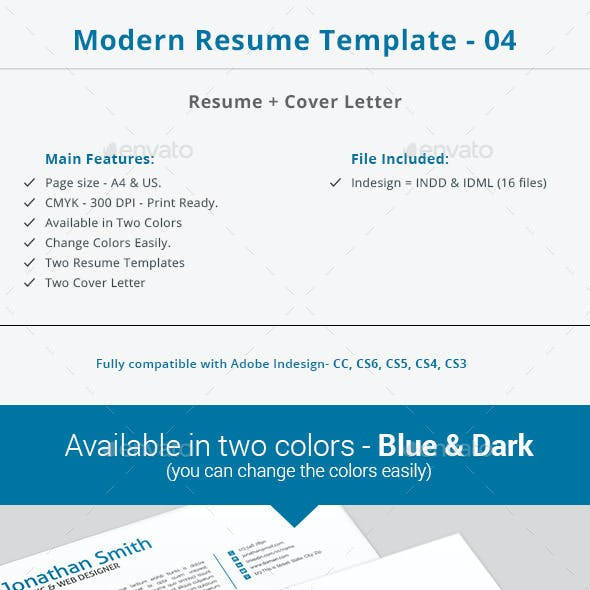 Modern Resume Template - 04