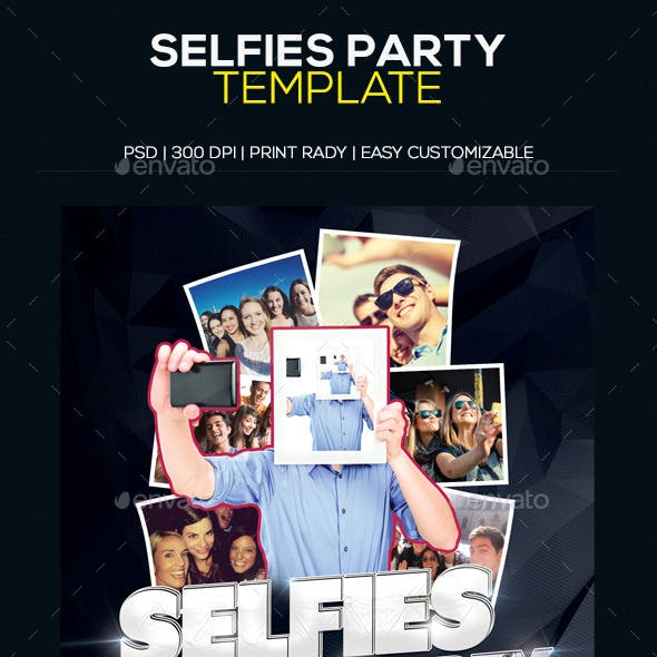 Selfies Party Template