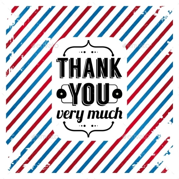 Thank You Card on Tricolor Grunge Background. - Abstract Conceptual