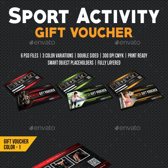 Sport Activity Gift Voucher 04