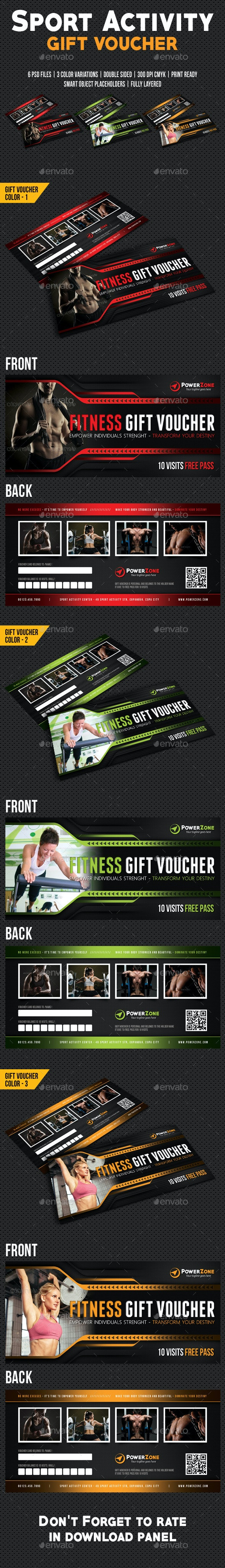 Sport Activity Gift Voucher 04 - Cards & Invites Print Templates