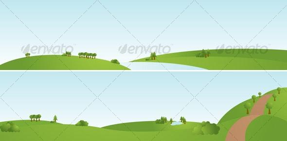 Cartoon Landscapes - Backgrounds Decorative