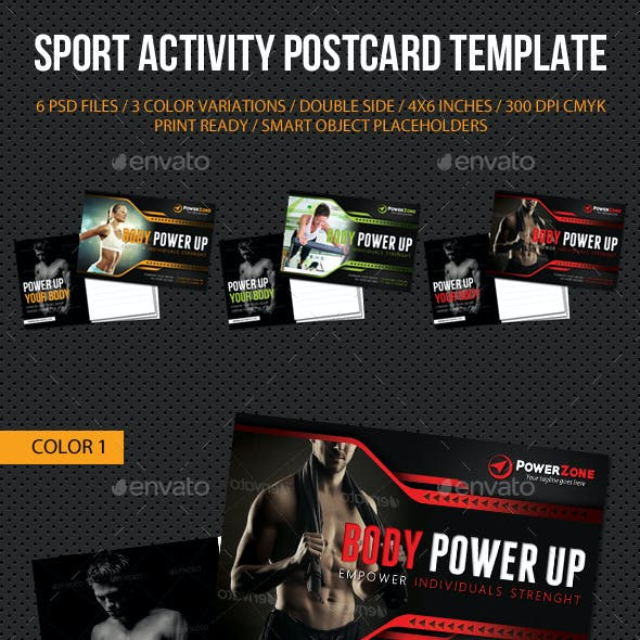 Sport Activity Postcard Template V08