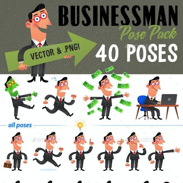 40 Retro Businessman Poses