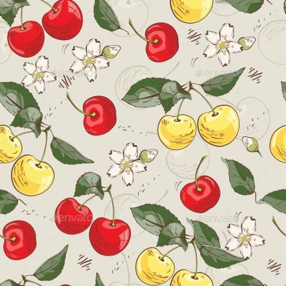 Sweet Cherry Pattern - Flowers & Plants Nature