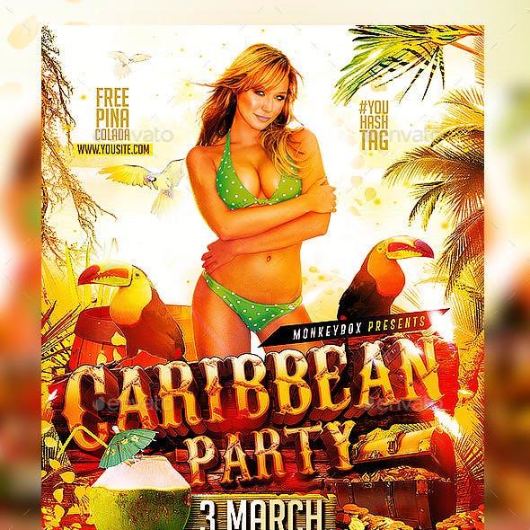 Flyer Caribbean Party Konnekt