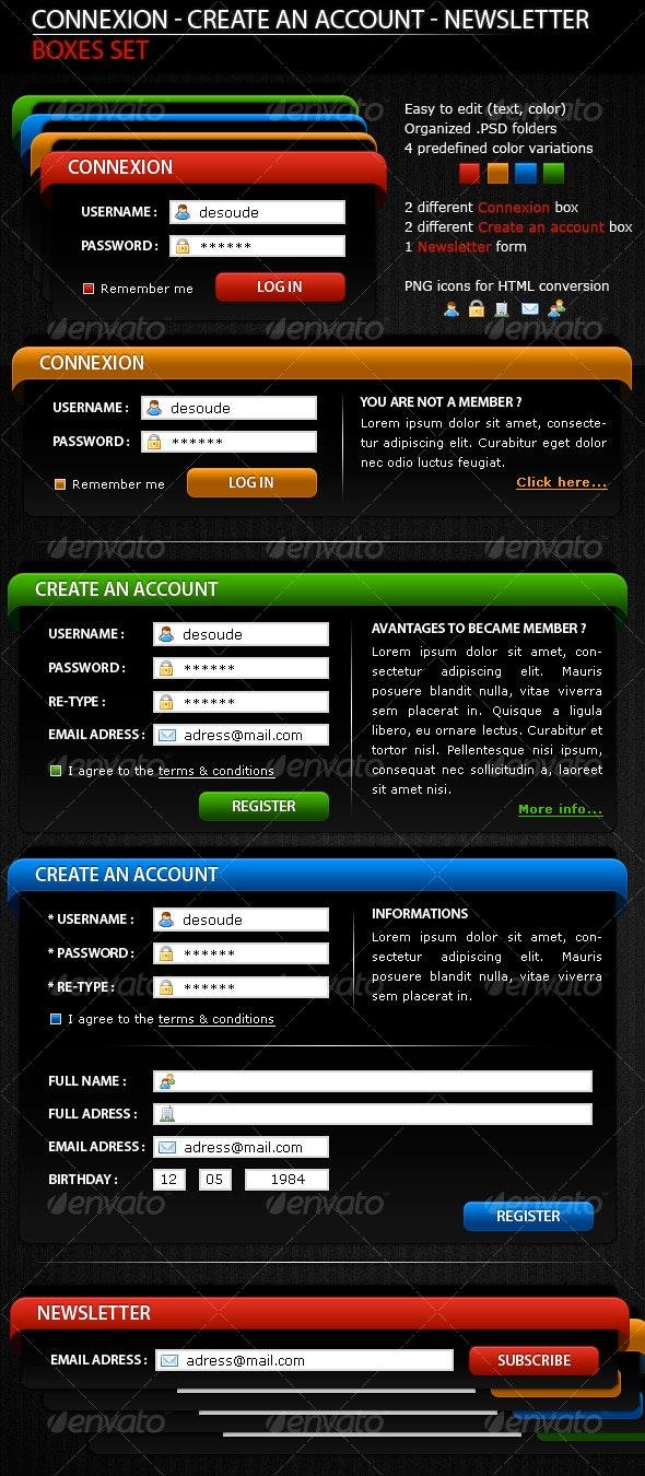 Different Boxes_Set - Forms Web Elements