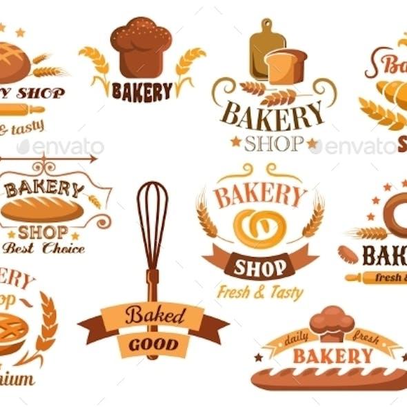 Large Set of Bakery Labels or Badges