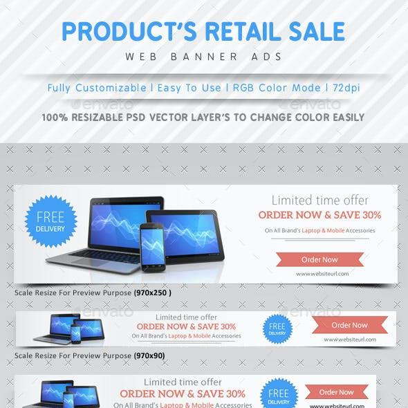Product Retail Sale Web Ads