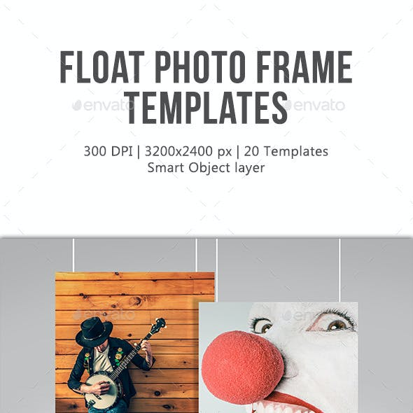 Float Photo Frame Templates