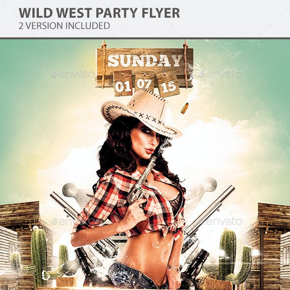 Wild West Party Flyer