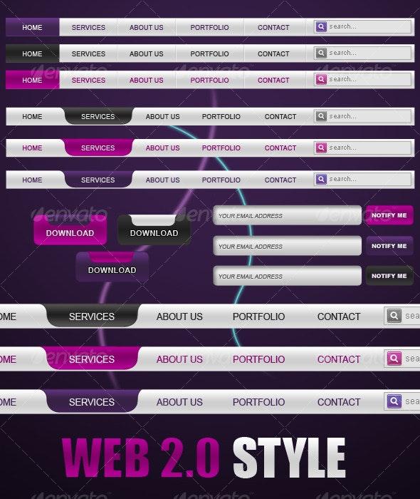 Web 2.0 Elements - Buttons Web Elements