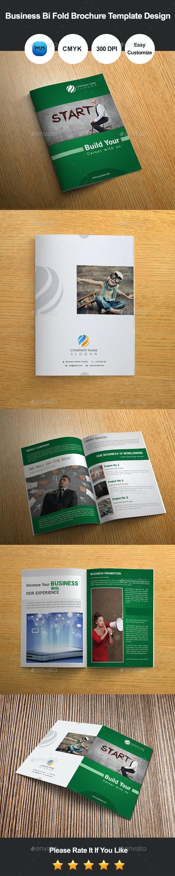 6 Pages Business Bi Fold Brochure Template Design - Informational Brochures