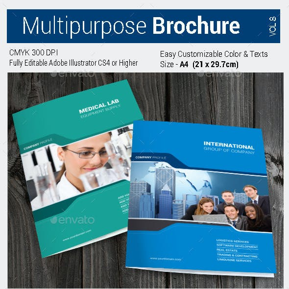 Multipurpose Bi-fold Brochure Vol-8