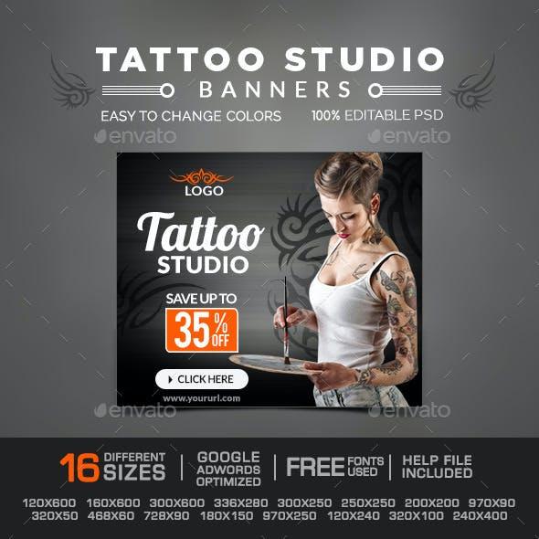 Tatto Studio Banners