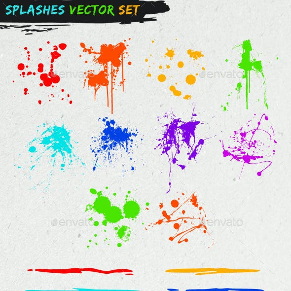 Splashes Vector Set