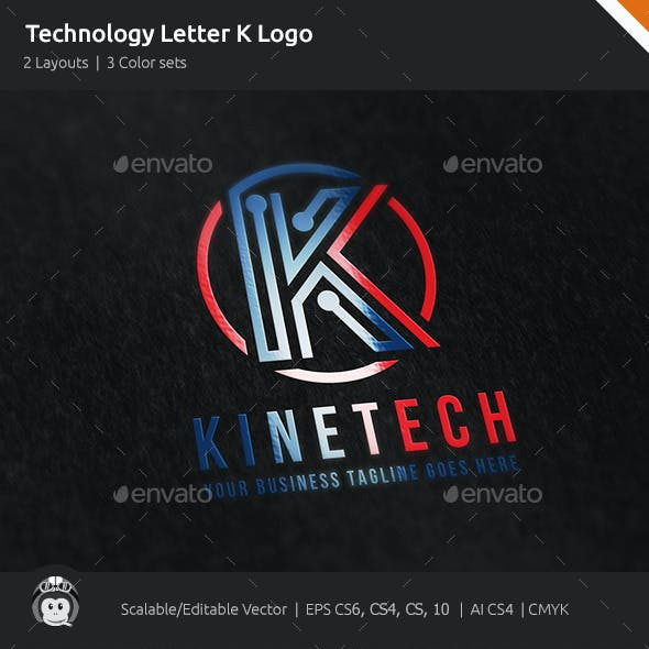 Kinetic Technology Letter K Logo