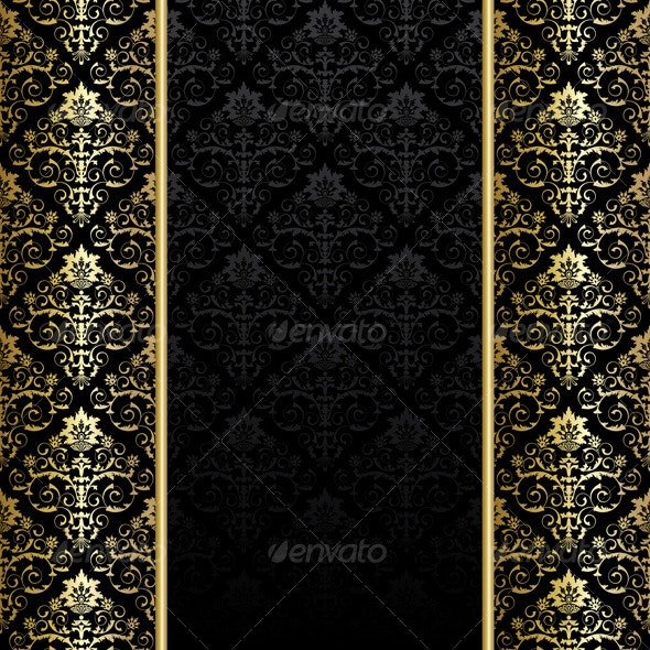 Black and gold background  - Characters Vectors
