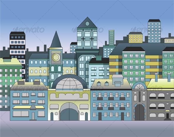 Street A - Buildings Objects