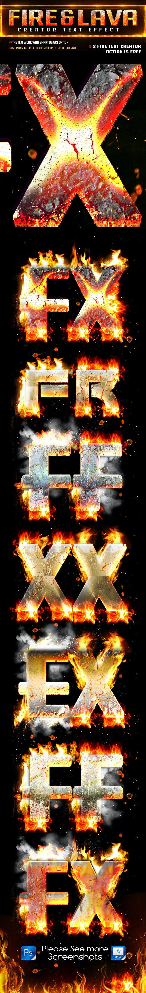 Fire Burn & Lava Style - Text Effects Styles