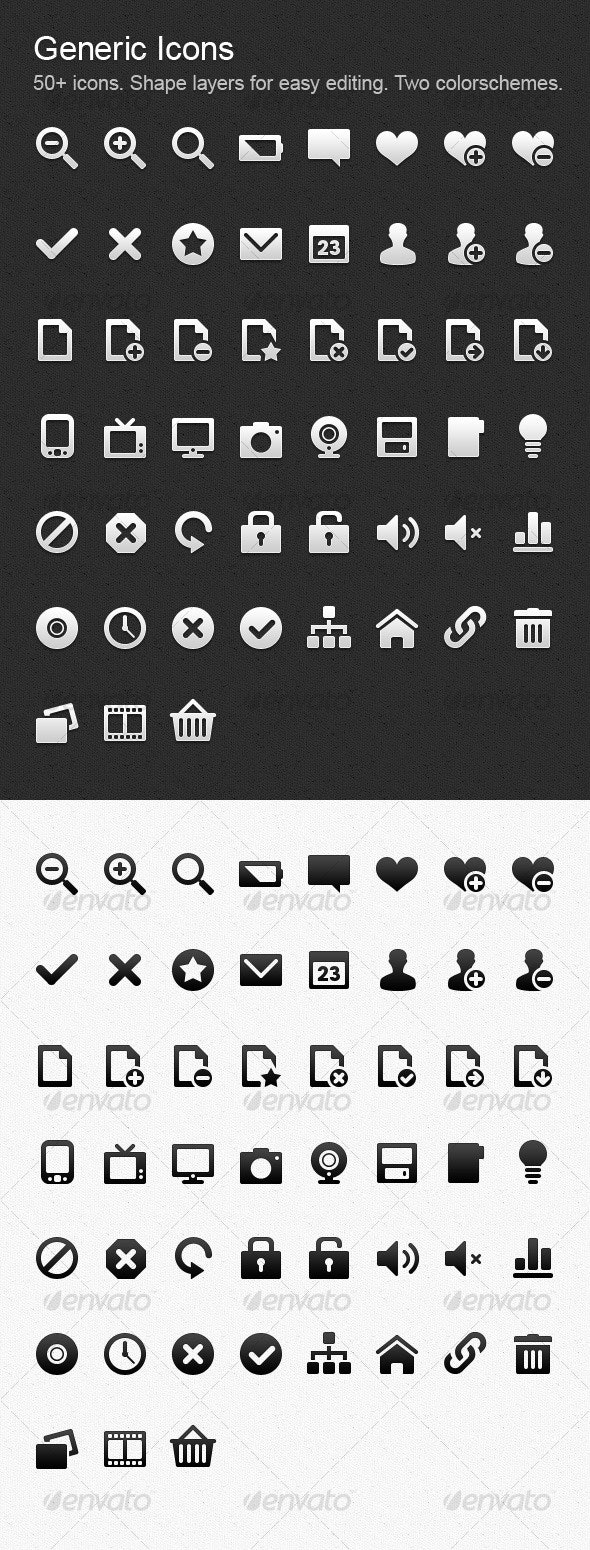 Generic Icons Collection - Web Icons