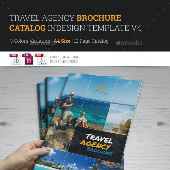 Travel Agency Brochure Catalog InDesign Template 4