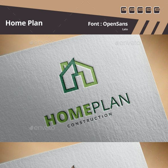 Home Plan Logo Template