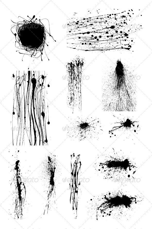 Ink splashes - Decorative Symbols Decorative
