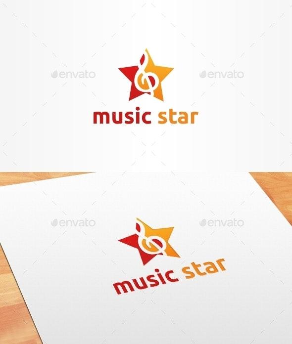Music Star Logo Template - Symbols Logo Templates