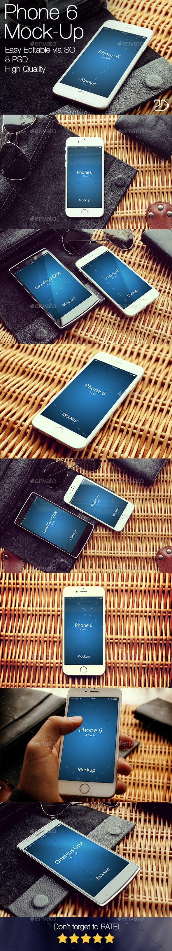 Phone 6 Mockup v2 - Mobile Displays