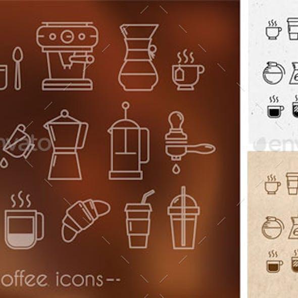 Coffee theme icons