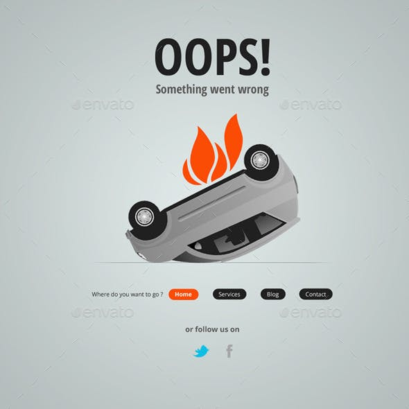 Creative 404 Template - PSD