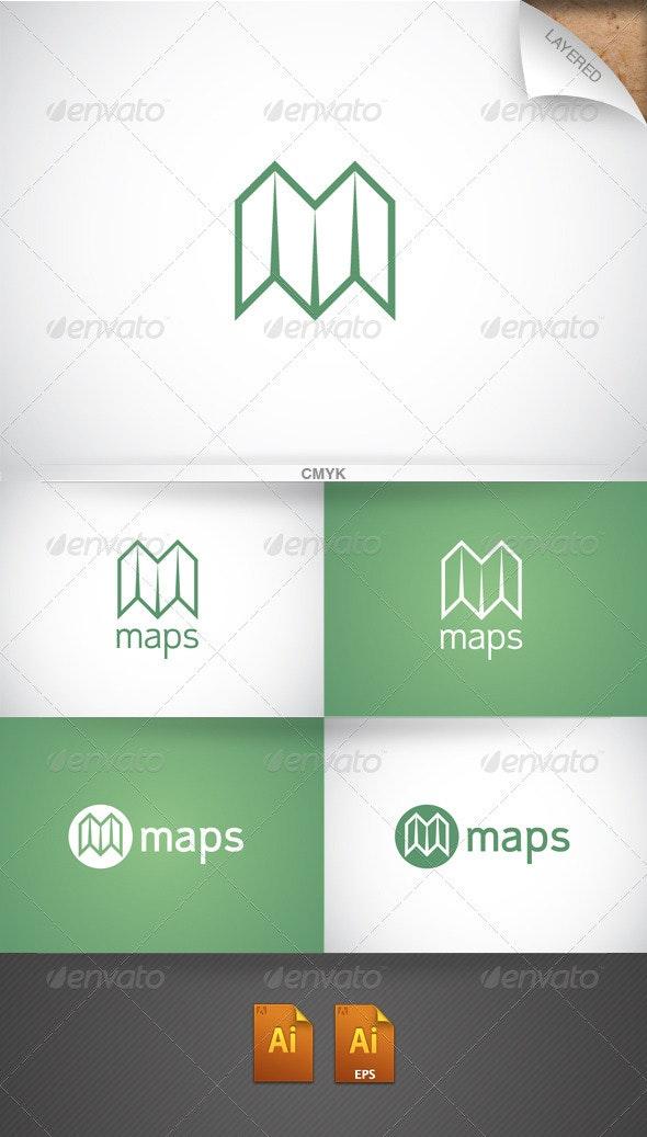 Maps Logo - Objects Logo Templates