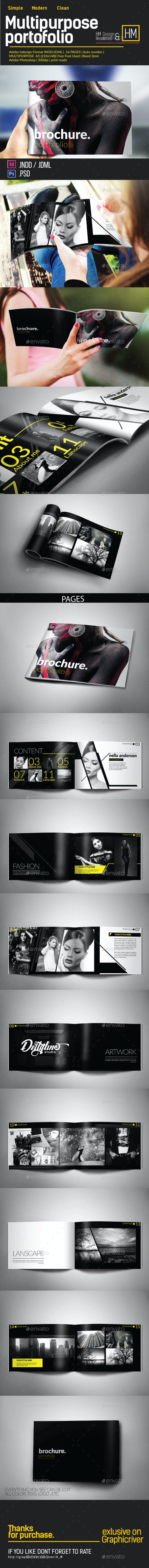MODERN BROCHURE CATALOG OR PORTOFOLIO DESIGN - Portfolio Brochures