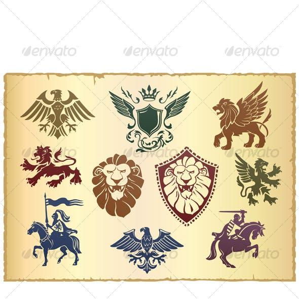 Heraldic vector set 01