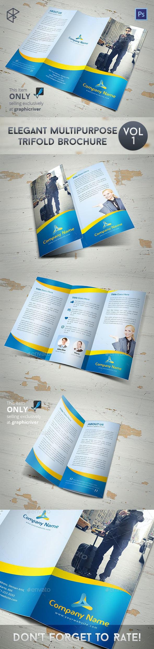 Elegant Multipurpose Trifold Brochure - Corporate Brochures