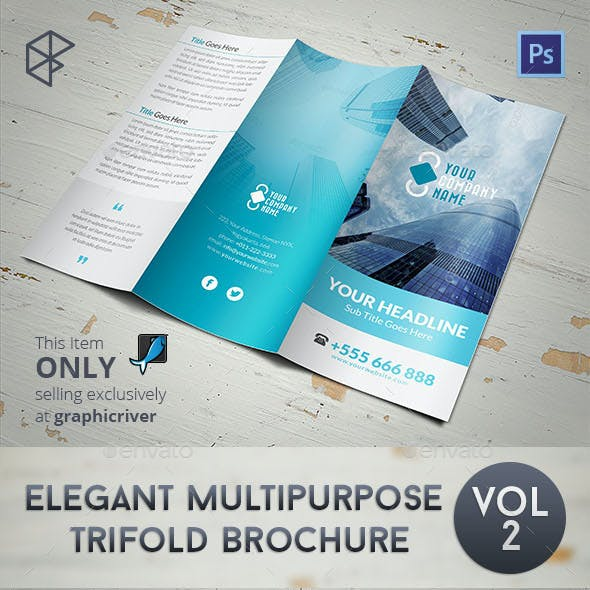 Elegant Multipurpose Trifold Brochure Vol 2