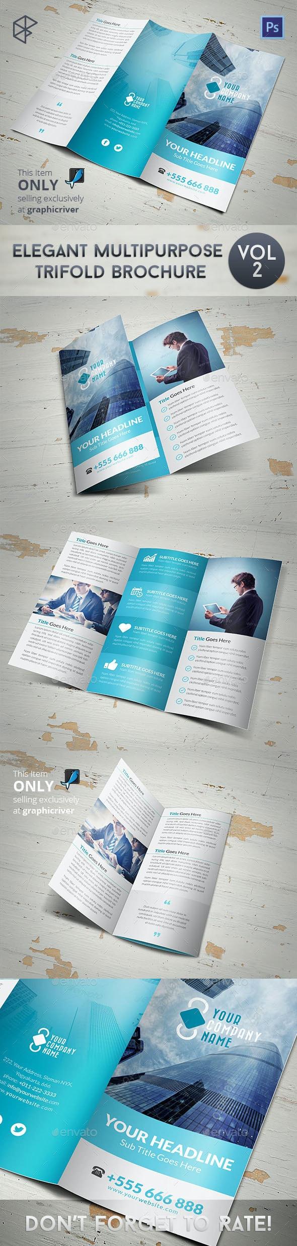Elegant Multipurpose Trifold Brochure Vol 2 - Corporate Brochures