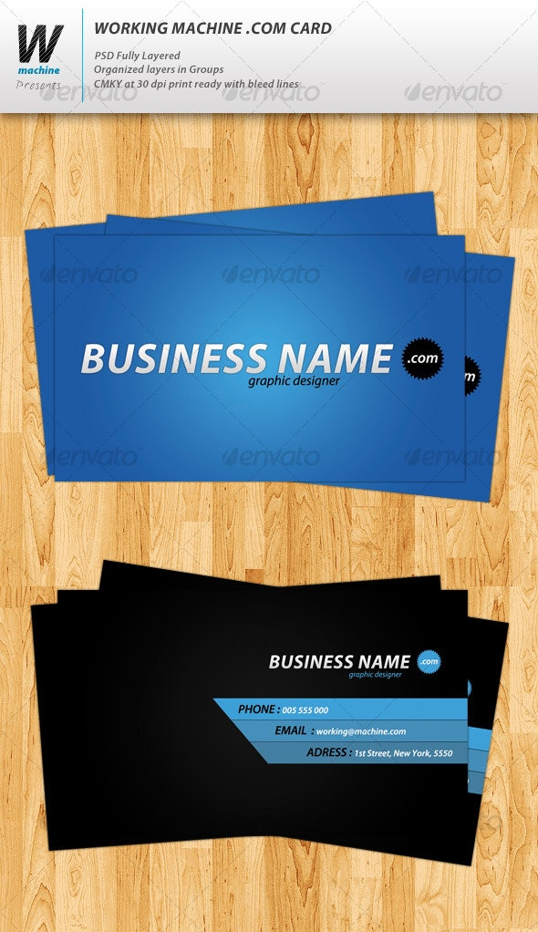 Business Card .com Template  - Creative Business Cards