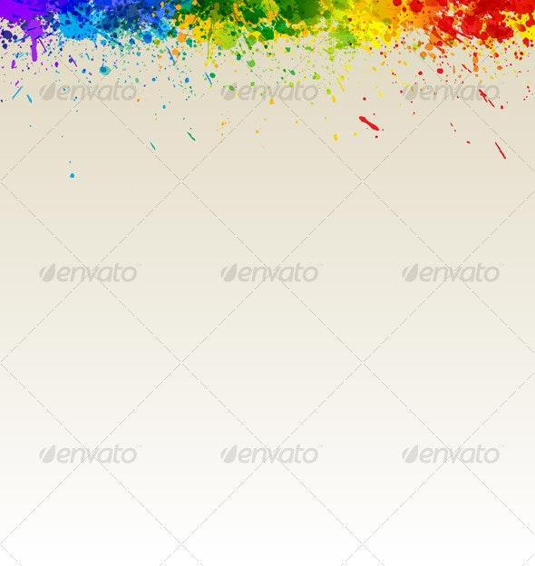 Color Paint Splashes Artwork - Backgrounds Decorative